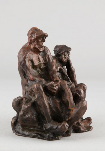 Two Fishermen - Bernhard Hoetger (1874-1949) - Sculpture Style