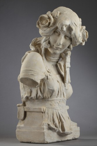 Cleo De Merode - Anonymous (early 20th Century) - Sculpture Style Art nouveau