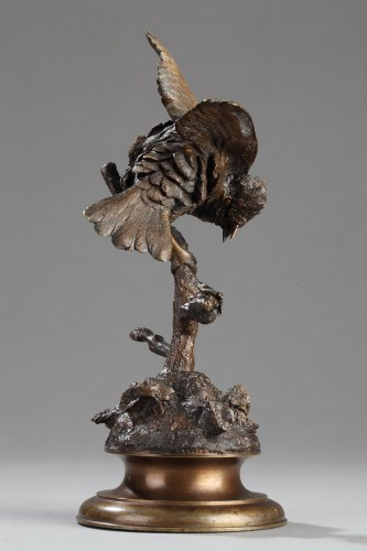 Bird on a Branch - Ferdinand PAUTROT (1832-1874) - Sculpture Style Napoléon III