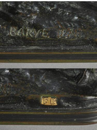 Stag listening - Antoine-Louis BARYE (1796-1875) -