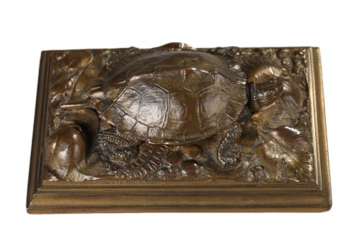 Turtle with Naturalized Base - Antoine-Louis BARYE (1796-1875)