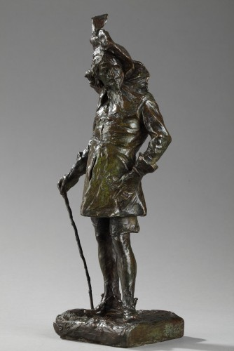 """A French Gentleman also named """"Le Callot"""" - Jean-Joseph CARRIES (1855-1894) - Sculpture Style"""