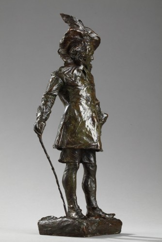 """Sculpture  - A French Gentleman also named """"Le Callot"""" - Jean-Joseph CARRIES (1855-1894)"""