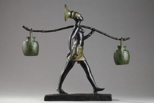 Mangbetu Woman - Fanny ROZET (1881-1958) - Sculpture Style Art Déco