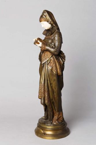 Sculpture  - The Reader - Albert-Ernest CARRIER-BELLEUSE (1824-1887)