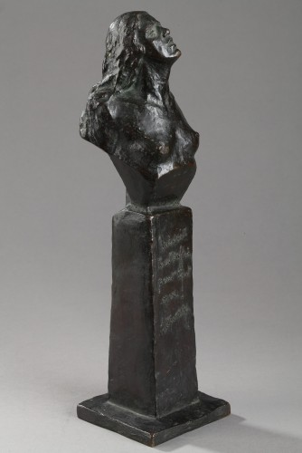 Sculpture  - Who knows how to suffer can dare everything - JITSINSKY (XXe s.)