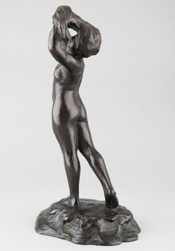 Female Nude - M. Mac Kain (20th c.) - Sculpture Style