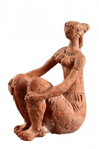 Seated Woman - Antoniucci VOLTI (1915-1989)