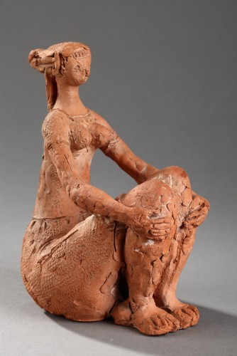 Seated Woman - Antoniucci VOLTI (1915-1989) - Sculpture Style 50
