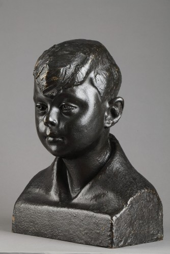 Buste of a Child - Pedro MEYLAN (1890-1954) - Sculpture Style Art Déco