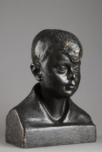 Sculpture  - Buste of a Child - Pedro MEYLAN (1890-1954)
