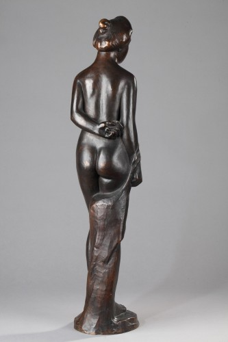 Woman wearing a Top knot also named  Standing Bather - Aristide MAILLOL (18 - Sculpture Style Art Déco