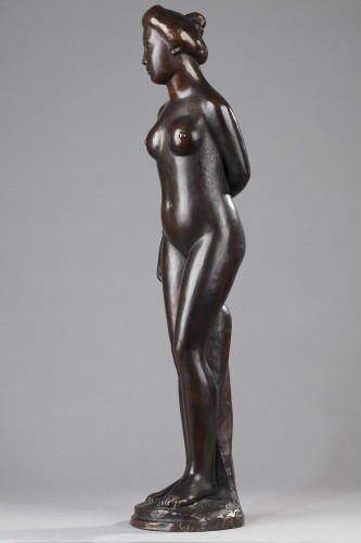 Sculpture  - Woman wearing a Top knot also named  Standing Bather - Aristide MAILLOL (18