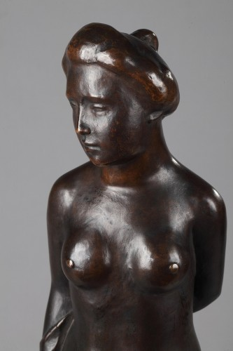 20th century - Woman wearing a Top knot also named  Standing Bather - Aristide MAILLOL (18