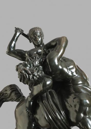 Theseus fighting the centaur Bienor - Antoine-Louis BARYE (1796-1875) -