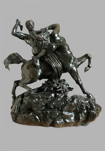 19th century -  Theseus fighting the centaur Bienor - Antoine-Louis BARYE (1796-1875)
