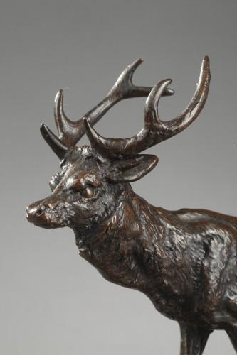 Deer walking No.2 - Antoine-Louis BARYE (1796-1875) -