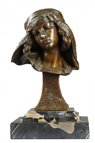 Bust of a Girl from Bou-Saada - Louis-Ernest BARRIAS (1841-1905)