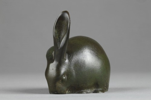 Sculpture  - Rabbit with a raised ear - Edouard-Marcel SANDOZ (1881-1971)