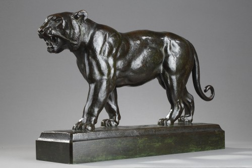 Sculpture  - Walking tiger - Antoine-Louis BARYE (1796-1875)