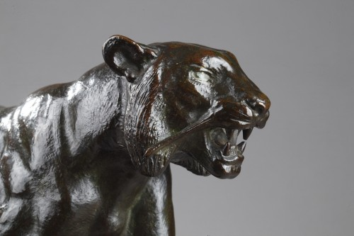 19th century - Walking tiger - Antoine-Louis BARYE (1796-1875)