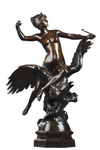 Diana riding an eagle - Georges Bareau (1866-1931)