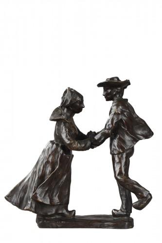 Breton Dance - François-Rupert Carabin (1860-1939)