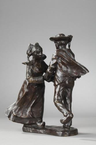 Breton Dance - François-Rupert Carabin (1860-1939) - Sculpture Style Art nouveau