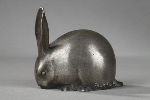 Rabbit with a raised ear - Edouard-Marcel SANDOZ (1881-1971) -