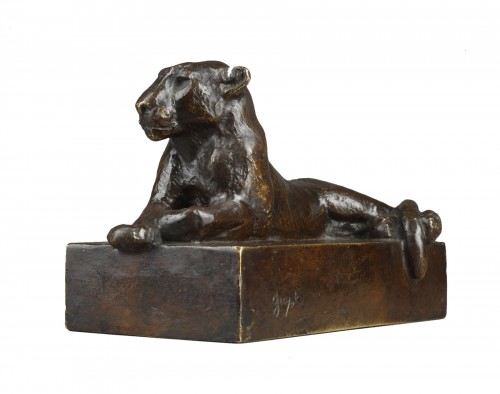 Lying Panther - Georges GUYOT (1885-1973)