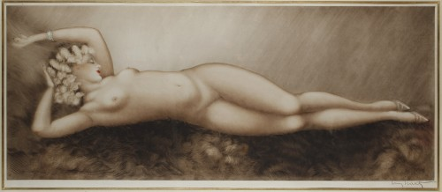 Sleep - Lithograph by Louis ICART (1888-1950) - Engravings & Prints Style Art Déco