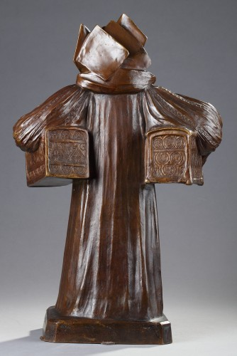 Sculpture  - Léo Laporte-Blairsy (1865-1923) - Lady with caskets