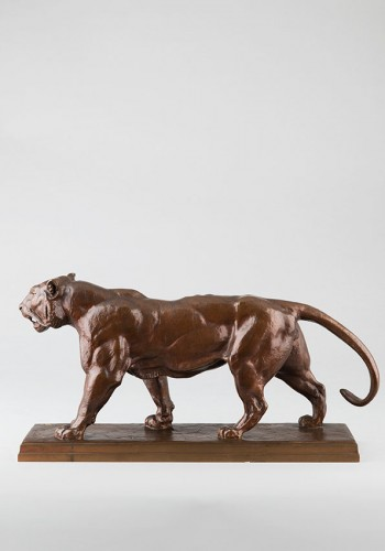 Walking Tiger - Antoine-Louis BARYE (1796-1875) - Sculpture Style Napoléon III
