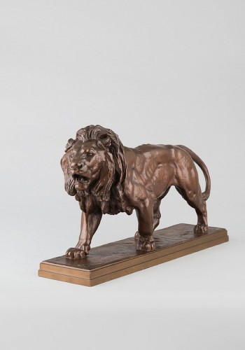Sculpture  - Walking Lion - Antoine-Louis BARYE (1796-1875)