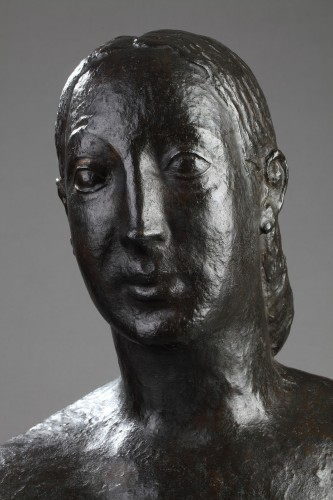 Bust of a woman - Oscar DE CLERCK (1892-1968) - Sculpture Style Art Déco