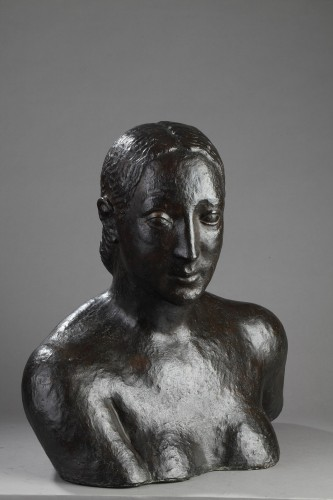Sculpture  - Bust of a woman - Oscar DE CLERCK (1892-1968)
