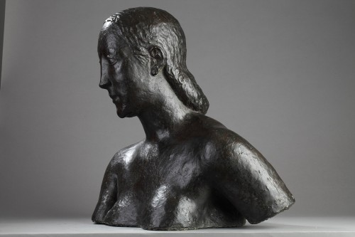 Bust of a woman - Oscar DE CLERCK (1892-1968) -