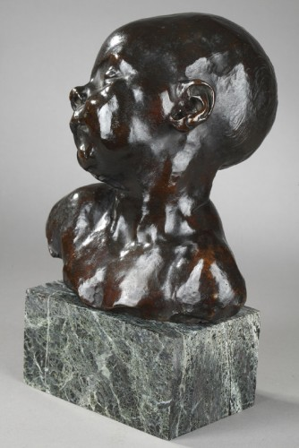 20th century - Baby asleep - Aimé-Jules DALOU (1838-1902)