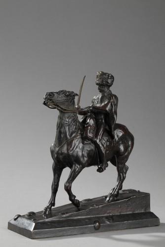 Hussar on horseback - Ernest MEISSONIER (1815-1891) - Sculpture Style Napoléon III
