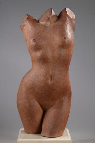 Woman bust - Marcel GIMOND (1894-1961) - Sculpture Style Art Déco