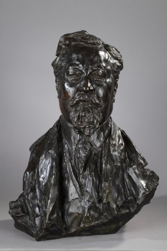 Portrait of Albert Dubarry - Léon-Ernest DRIVIER (1878-1951) - Sculpture Style Art Déco