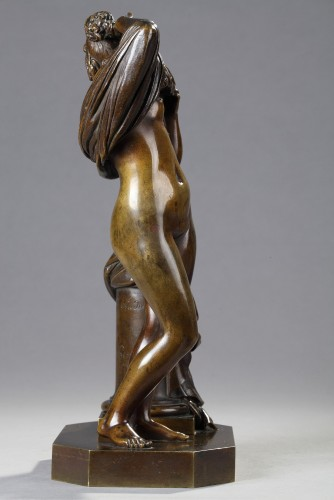 Sculpture  - Woman taking off her shirt - James PRADIER (1790-1852)
