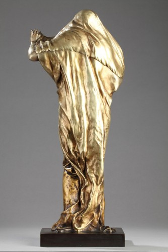 Sculpture  - Nature unveiling herself - Louis-Ernest BARRIAS (1841-1905)