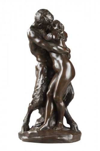 """Le Baiser"" also named ""Nymphe et Faune"" - Aimé-Jules DALOU (1838-1902)"