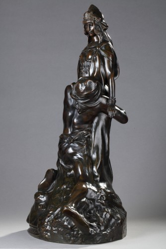 """Salammbo at Matho, I love you ! I love you"" - Théodore RIVIERE (1857-1912) - Sculpture Style Art nouveau"