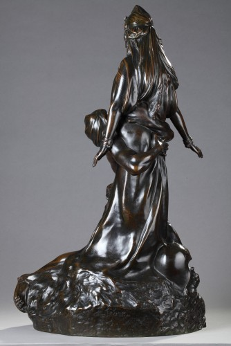 "Sculpture  - ""Salammbo at Matho, I love you ! I love you"" - Théodore RIVIERE (1857-1912)"