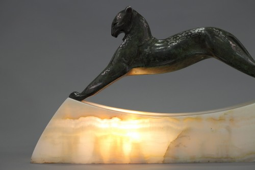 Lamp Panther - Alexandre KELETY (1874-1940) -