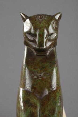 Antiquités - Lamp Panther - Alexandre KELETY (1874-1940)