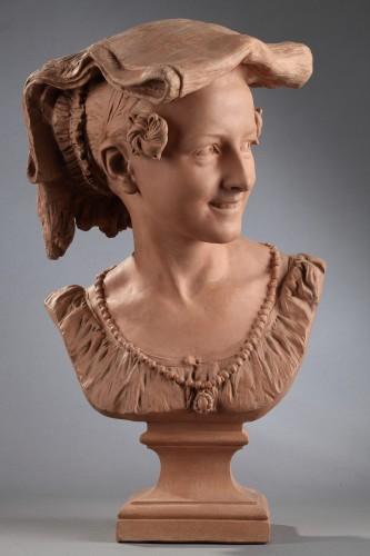 Rieuse Napolitaine - Jean-Baptiste CARPEAUX (1827-1875) - Sculpture Style Napoléon III
