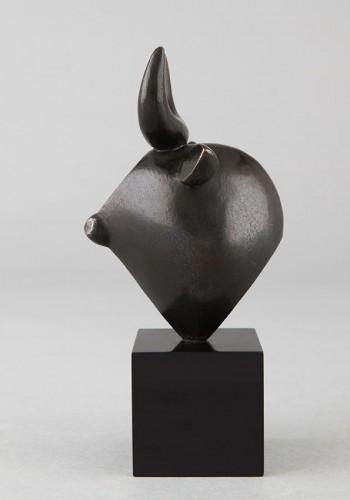 Sculpture  - Head of Bull - Baltasar LOBO (1910-1993)